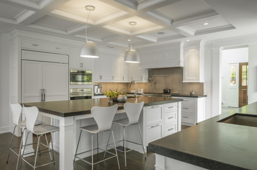 Classic White Kitchen - Boston Home